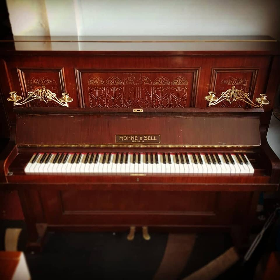 HOHNE & SELL Jugendstil upright piano for sale 09