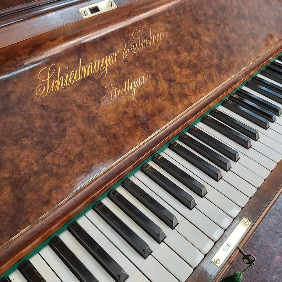 SCHIEDMAYER burr walnut Model 10 upright piano 02