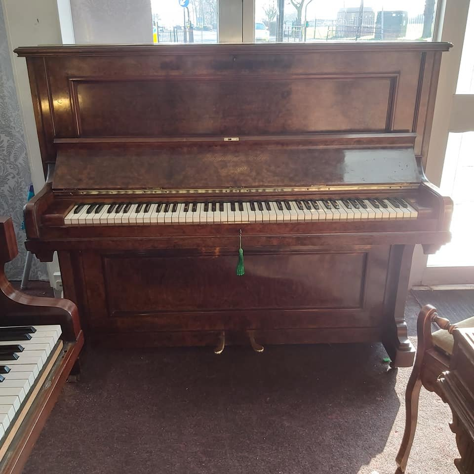 SCHIEDMAYER burr walnut Model 10 upright piano 03