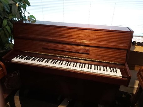 Neuman Modern upright studio piano for sale