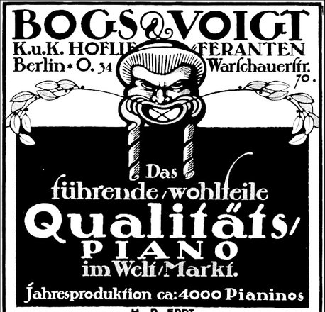 Bogs & Voigt Concert Upright piano